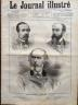LE JOURNAL ILLUSTRE 1876 N° 37 M. FELICIEN DAVID, EUGENE FROMENTIN, M. CLAUDE