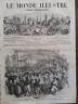 LE MONDE ILLUSTRE 1858 N 72 RECEPTION DE LEURS ALTESSES IMPERIALES A QUIMPER
