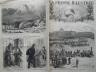 LA PRESSE ILLUSTREE 1876 N 409 LOCOMOTIVE ROUTIERE TRAINANT UN CONVOI D'ARTILLE