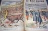 LE PETIT JOURNAL 1894 n 215 COMBAT TAUREAU ET LION A MADRID