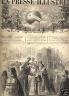 LA PRESSE ILLUSTREE 1874 N 307 MARIAGE A SAINT PETERSBOURG